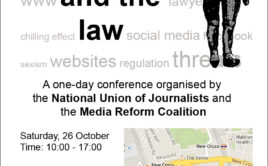 NUJ and MRC Conference: 'The Internet and the Law'
