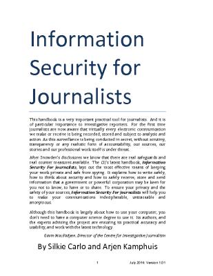Information Security for Journalists Handbook (2014)