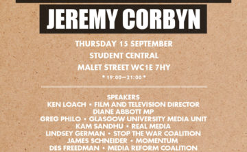 The media, the movements and Jeremy Corbyn, 15 Sept